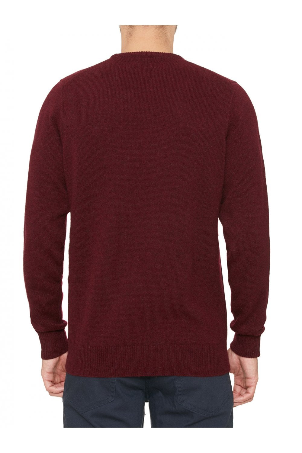 88840bd8a3a Classic Pure Lambswool Crew Neck Jumper - Bordeaux