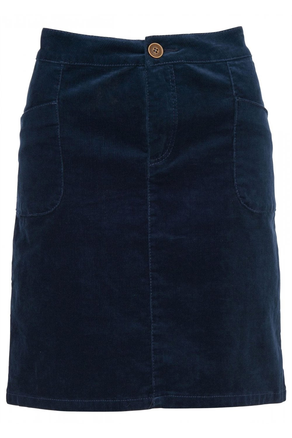 3d7bd4437b Brakeburn Cord Skirt - Navy - Womenswear from Potters of Buxton UK