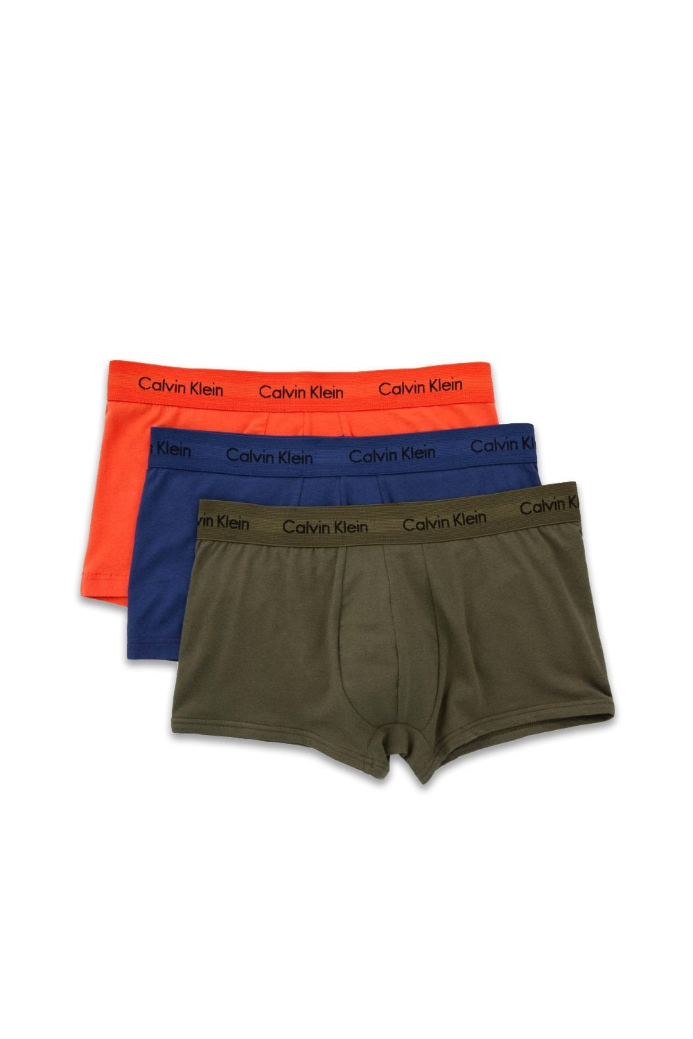 c309e80c048b71 Calvin Klein Cotton Stretch Low Rise Trunk - 3 Pack - Forest Night ...