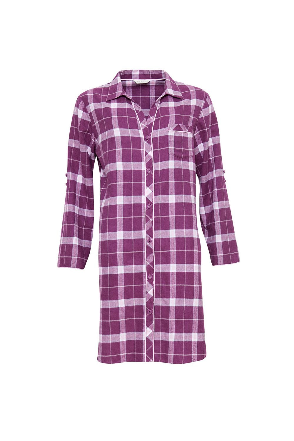 a8b59562ad Cyberjammies Fiona Brushed Check Nightshirt - Magento White ...