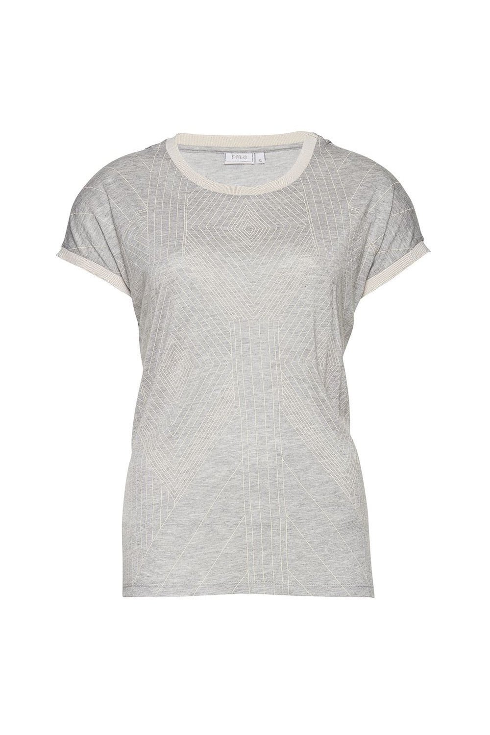 Fransa Gifro 1 Printed T Shirt Womenswear From Potters Of Buxton Uk