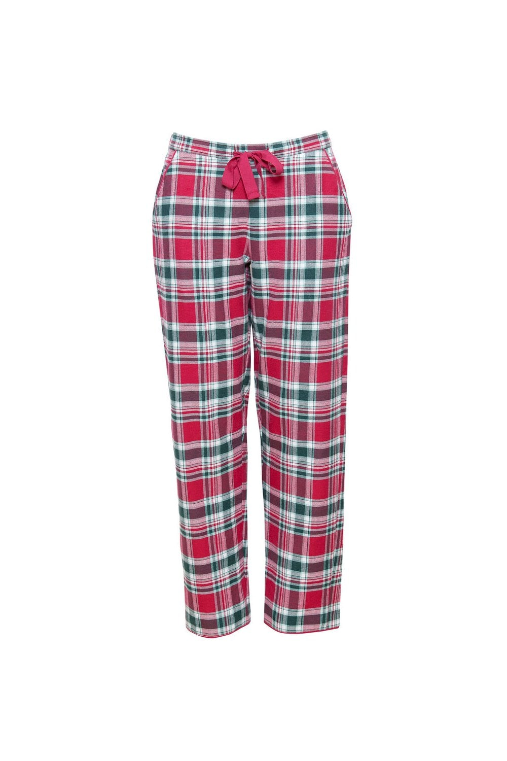 Cyberjammies Holly Check Brushed Pyjama Trousers - Red Green ... 7447ffbad