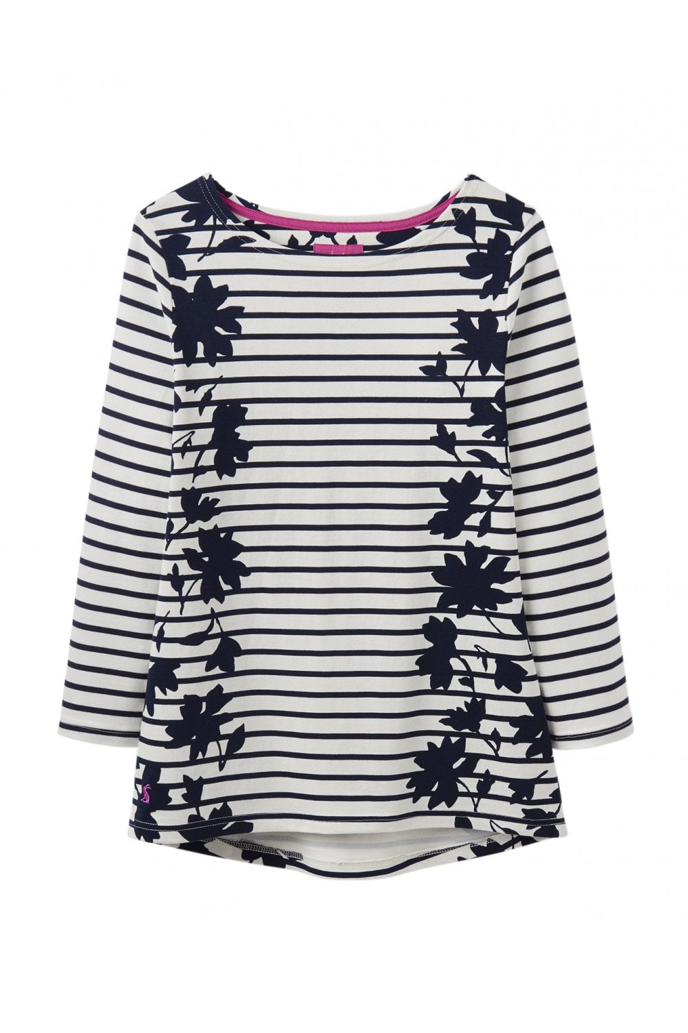19f47a500be78e Joules Womens Harbour Jersey Top - Navy Border Floral - Womenswear ...