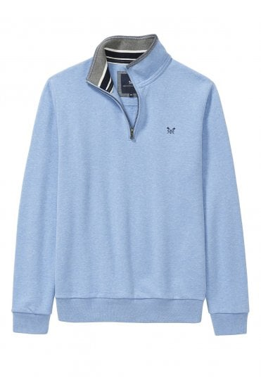 de3a4a81621 Mens Classic 1 2 Zip Sweat - Sky Marl. Crew Clothing ...