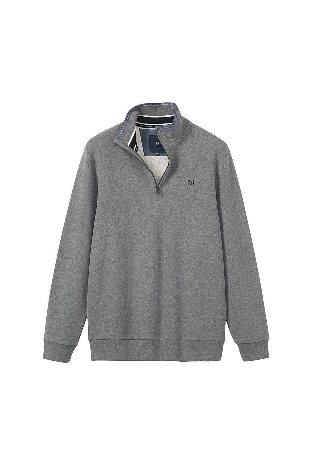 d69723c632c4 Crew Clothing Mens Classic Half Zip Sweat - Grey Marl - Menswear from  Potters of Buxton UK