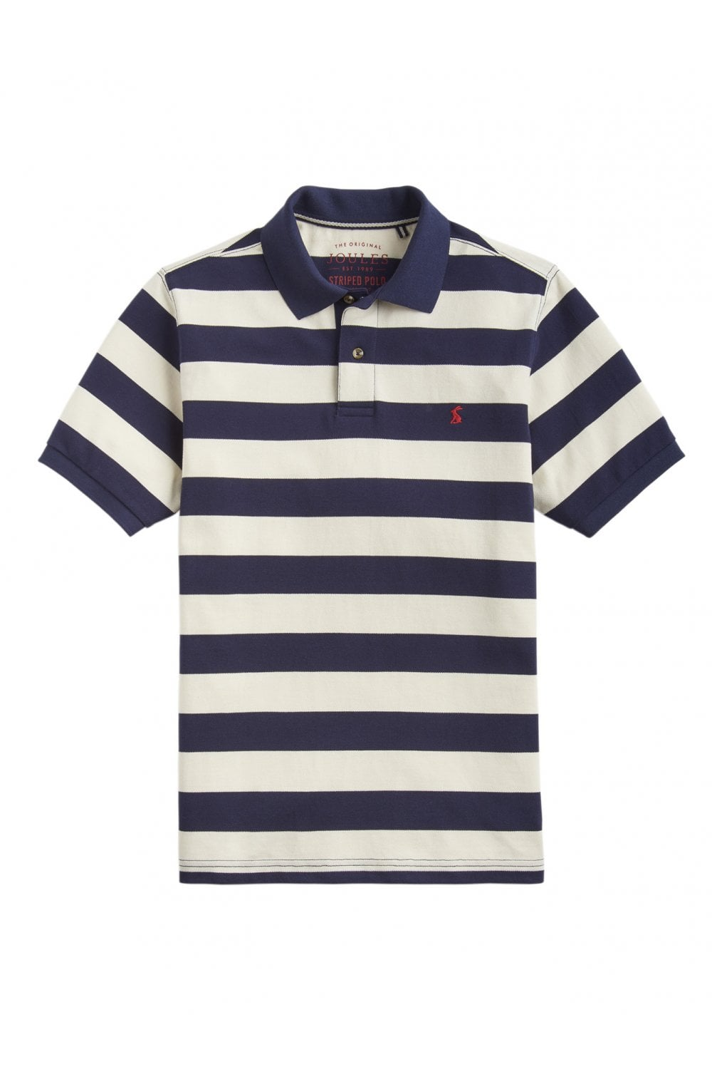 f182be0ad03a8 Joules Mens Filbert Striped Classic Fit Polo - Navy Cream Stripe ...