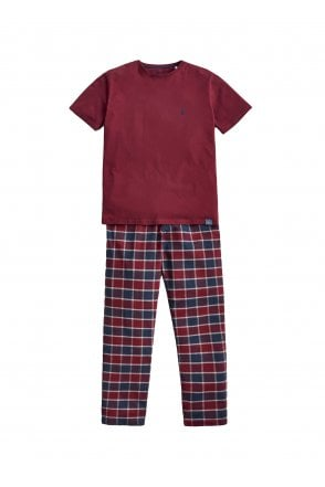 70ce5d554a1b Joules Mens Goodnight Lounge Gift Set - Red Check - Menswear from ...