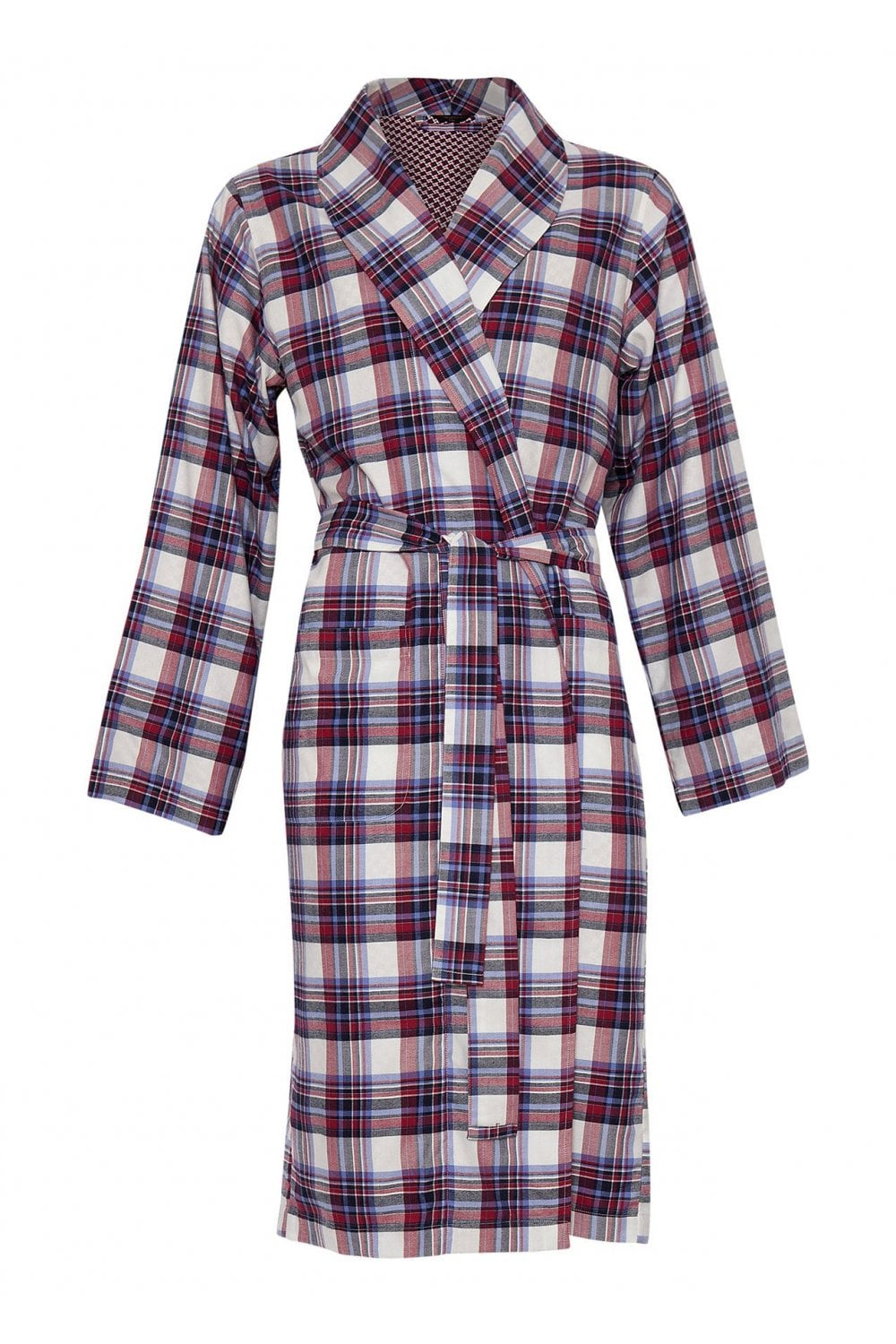 Cyberjammies Mens Henry Burgundy Multi Check Double Layered Long ... 051ce95db
