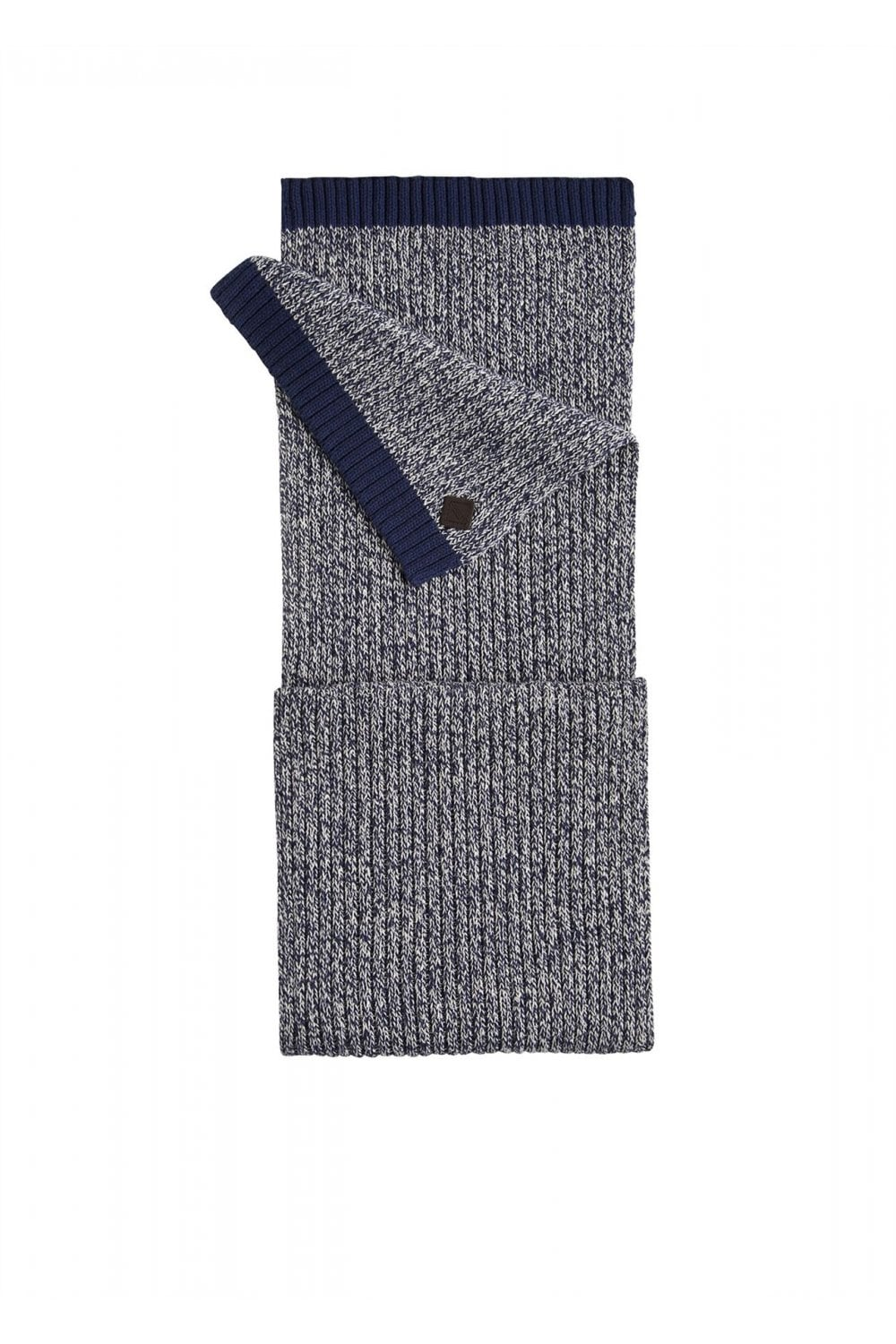 e1a16d40c49abd Joules Mens Oarswell Knitted Scarf - Navy/Cream - Accessories from ...