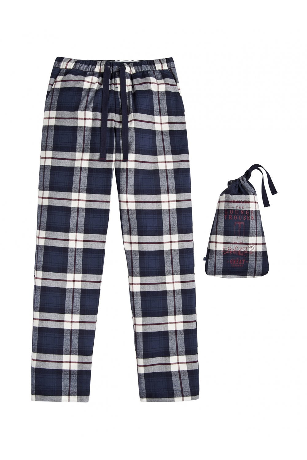 Joules Mens The Sleeper Checked Lounge Trousers - Blue Check ... d94dddcf6