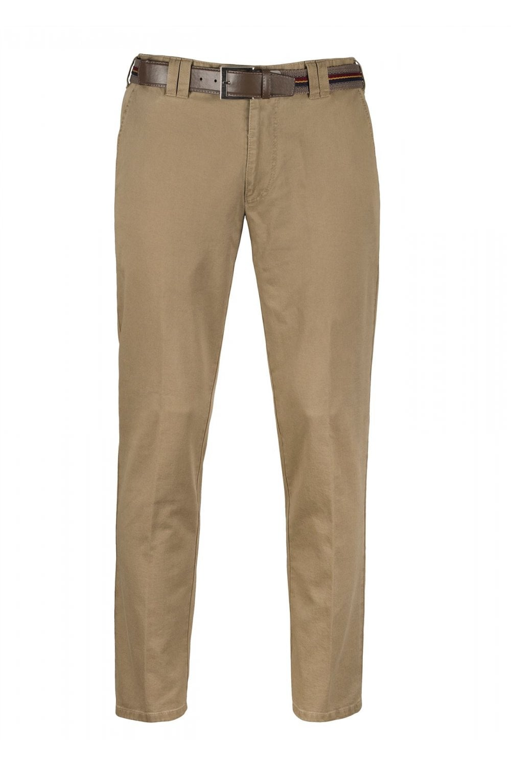 Meyer Oslo Stretch Cotton Chinos Beige Menswear From Potters Of