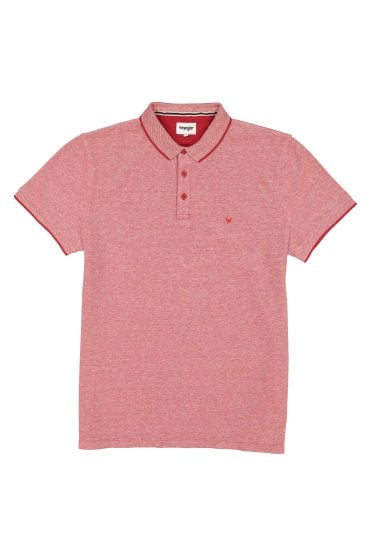 49800640 Refined Polo - Scarlet Red