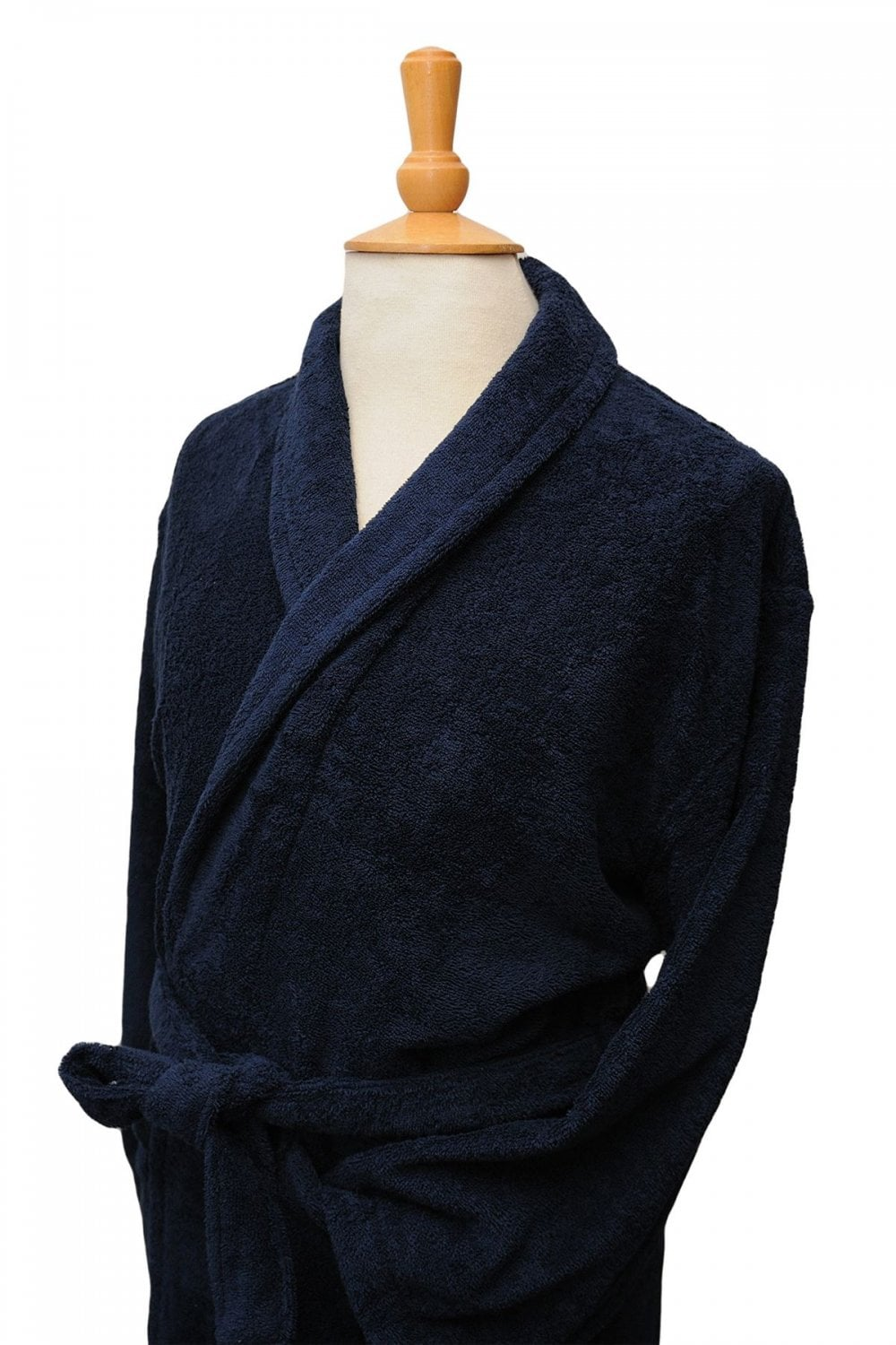 bc280d6238 Bown of London Terry Towelling Navy Dressing Gown - Bath Robe - 100 ...