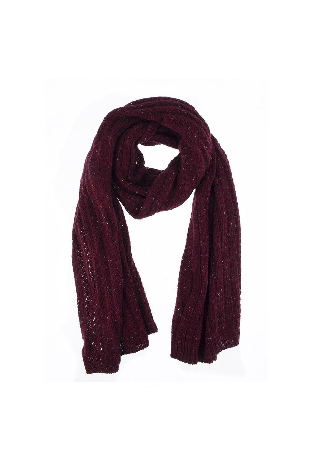 d2add936a25 Dents Womens Cable Knit Marl Blanket Scarf - Womenswear from Potters ...