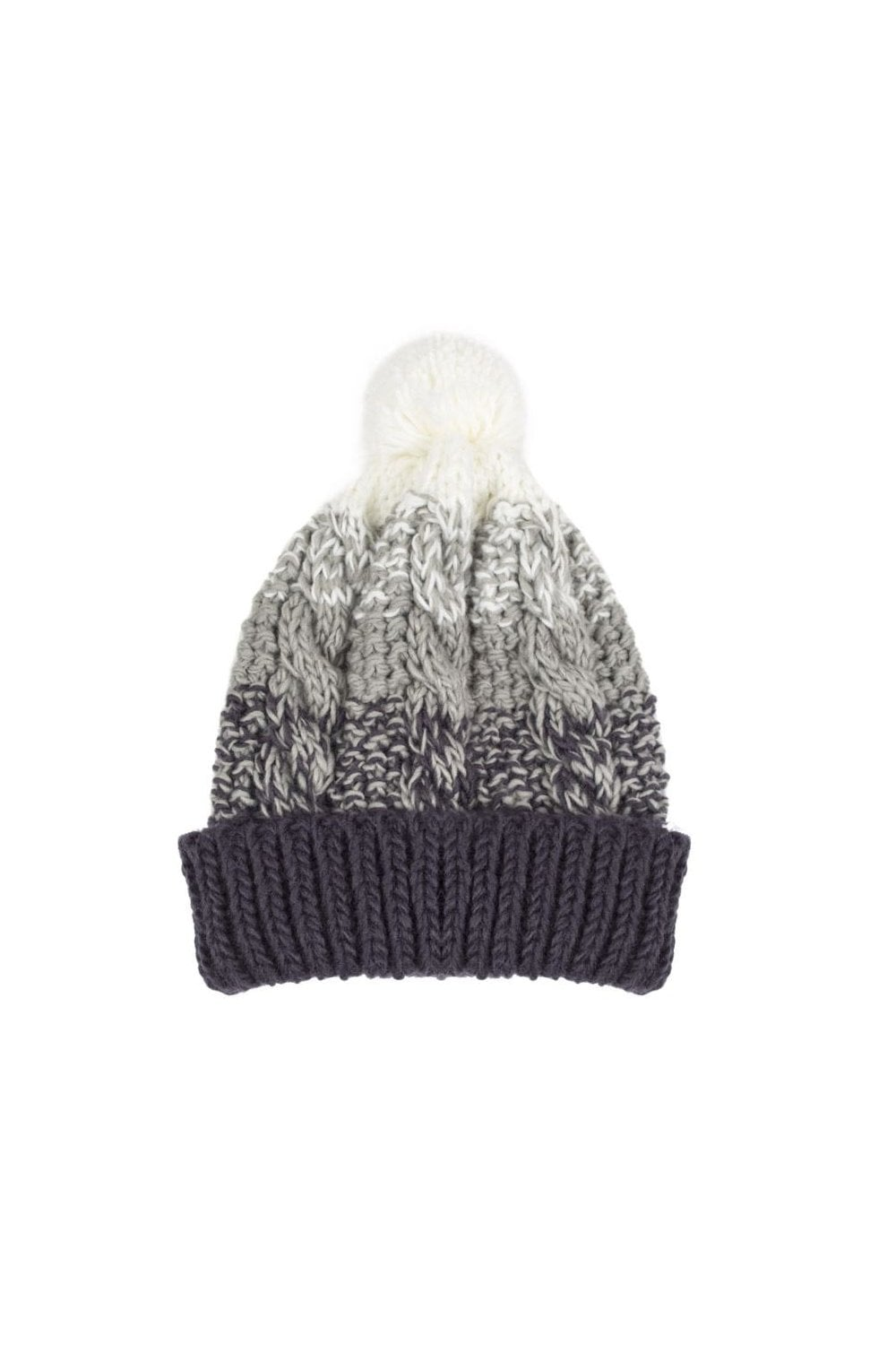 67e91a99bda0b4 Dents Womens Cable Knit Ombre Hat - Charcoal - Accessories from ...