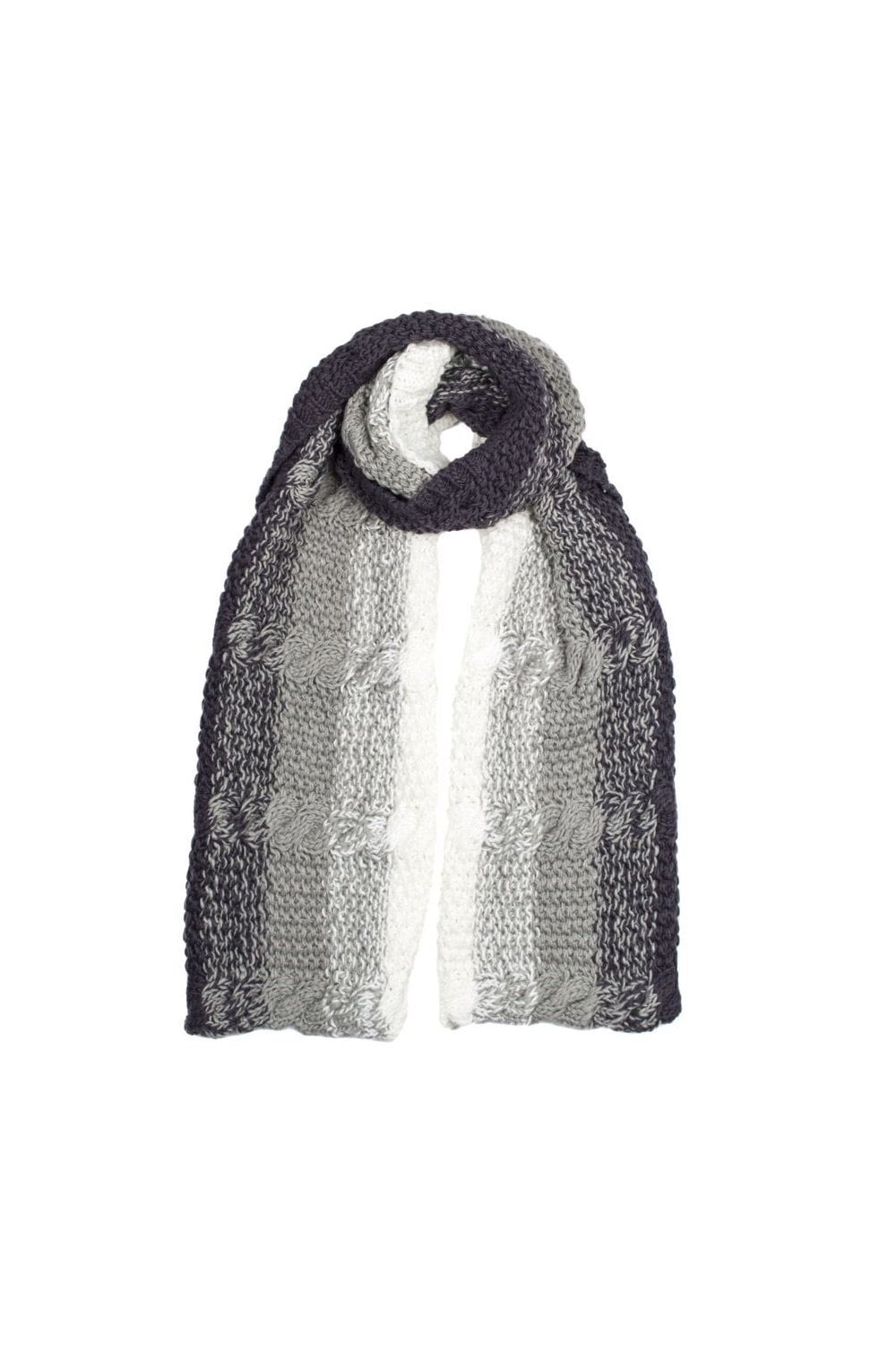 7548d3ed01922e Dents Womens Cable Knit Ombre Scarf - Charcoal - Accessories from ...
