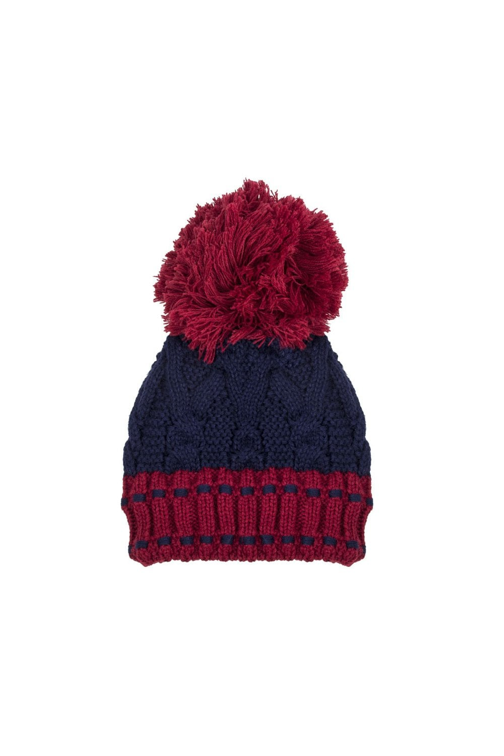 Dents Womens Chunky Cable Knit Hat - Berry Navy - Womenswear from ... f466ae2c1