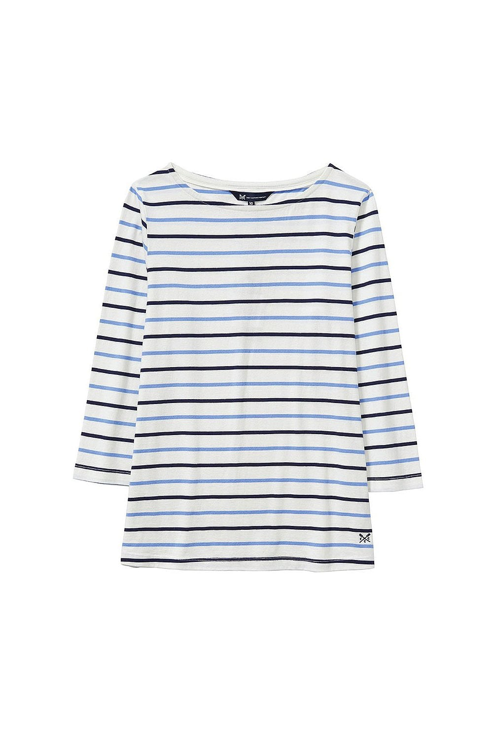 6abe0ce3ac1d Crew Clothing Womens Essential Breton Top - White/Light Indigo/Navy -  Womenswear from Potters of Buxton UK