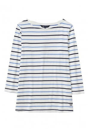 cb72626b0c0c Womens Essential Breton Top - White/Light Indigo/Navy Sale Item. Crew  Clothing ...