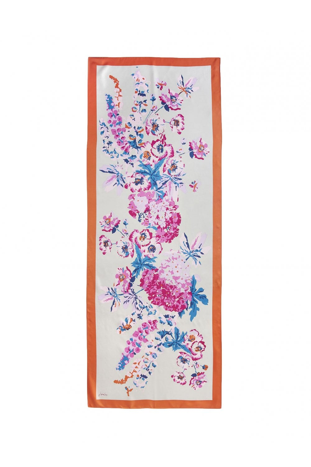 Joules Womens Hampton Large Printed Scarf ONE in SILVER FLORAL in One Size