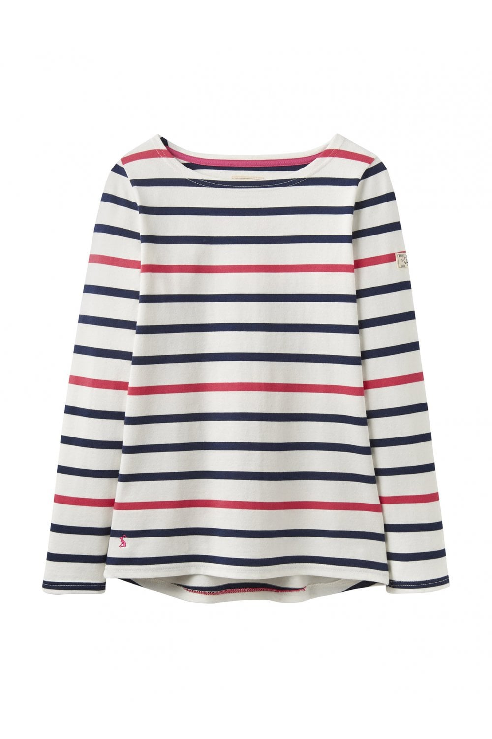 95774683e Joules Womens Harbour Jersey Top - Navy Raspberry Stripe ...