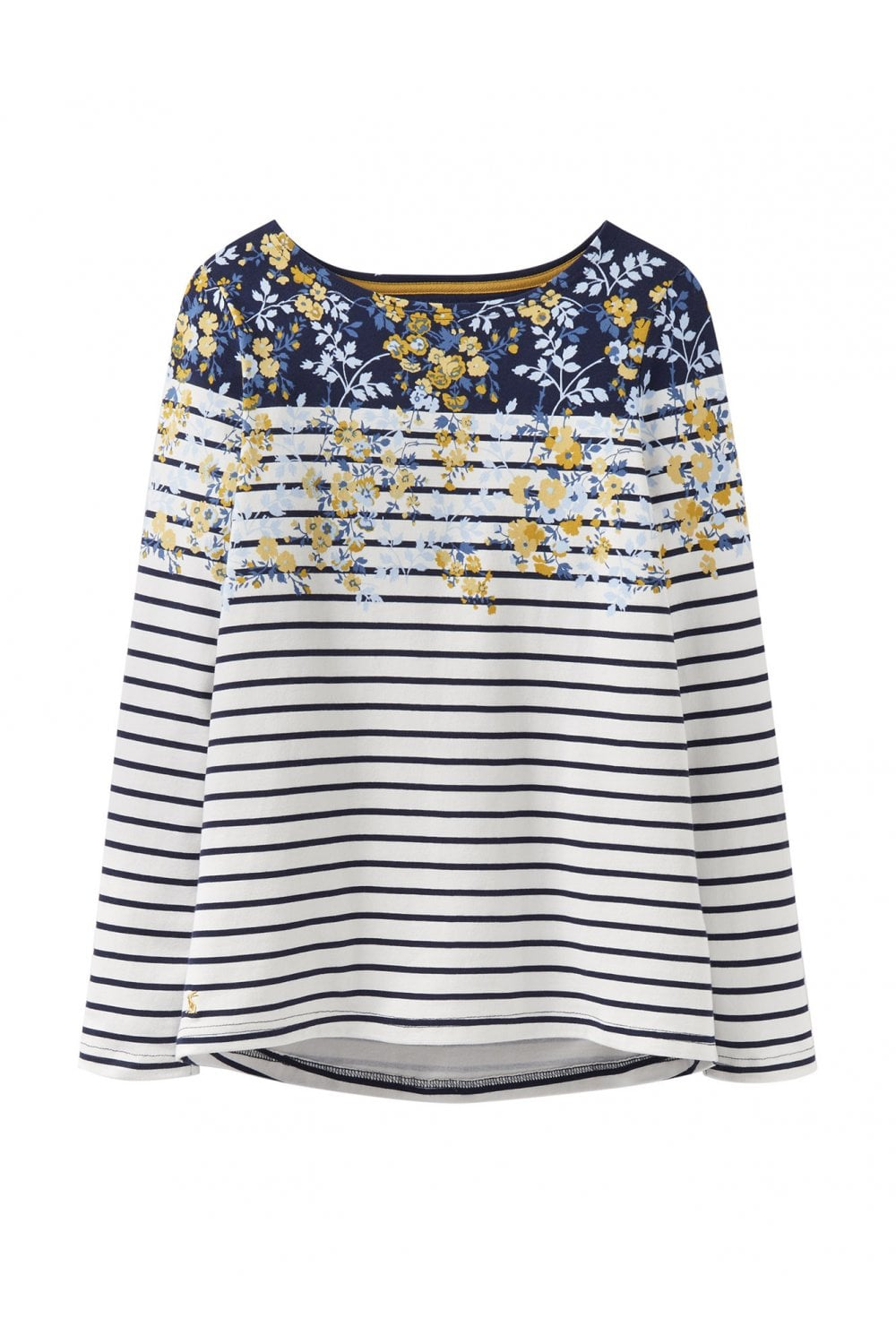 a65108e4c Joules Womens Harbour Printed Jersey Top - Navy Gold Ditsy ...