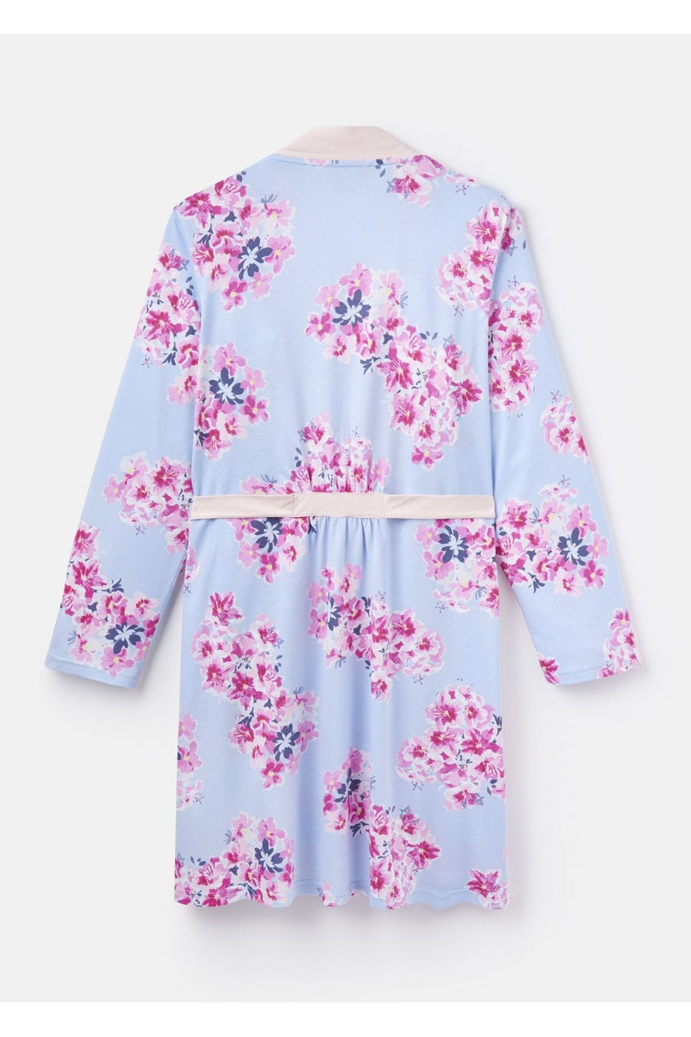 a4ef41850a Joules Womens Jasmine Printed Jersey Dressing Gown - Blue Floral ...
