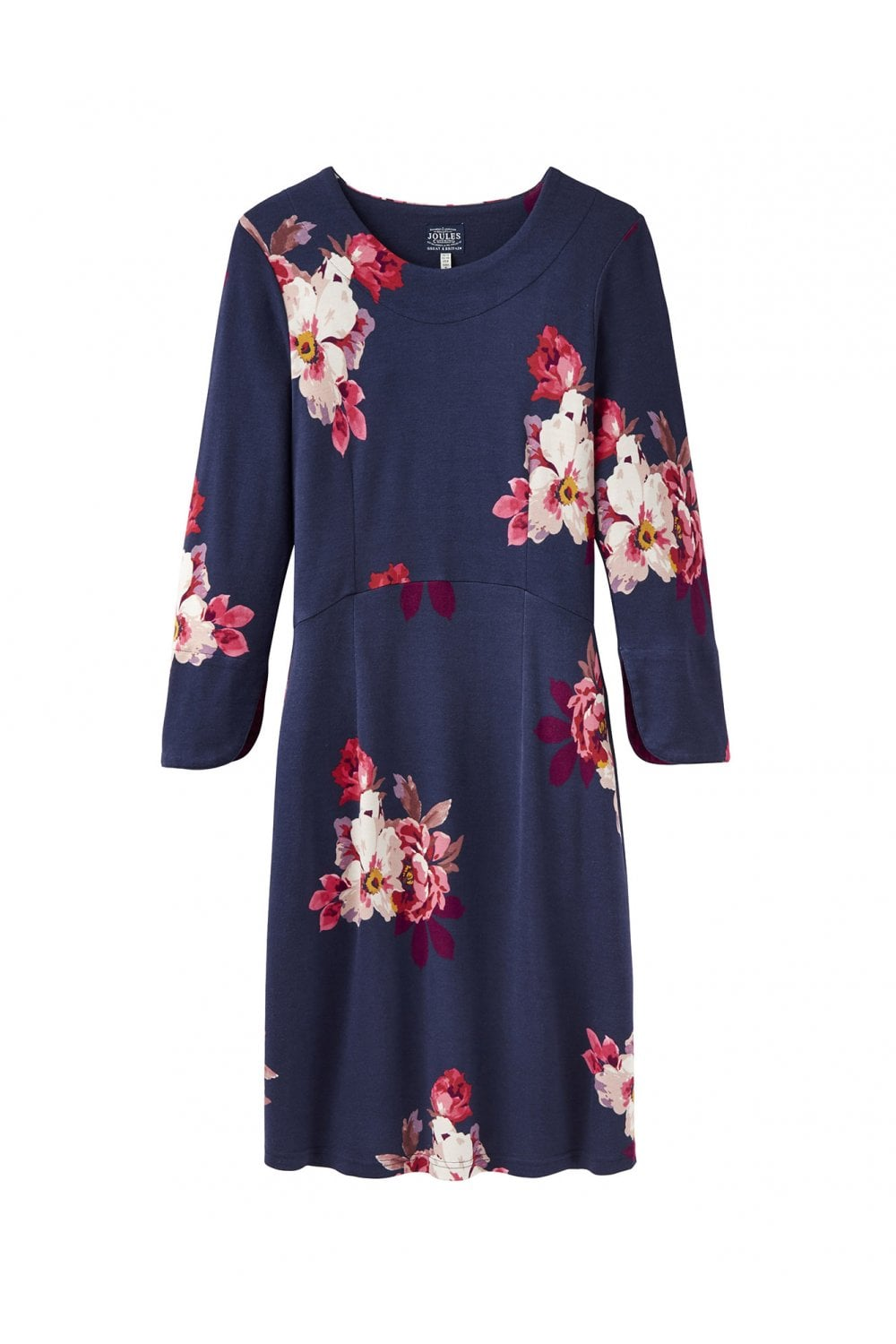 60630405d48d5 Joules Womens Juliana Fit   Flare Dress - French Navy Bircham Bloom ...