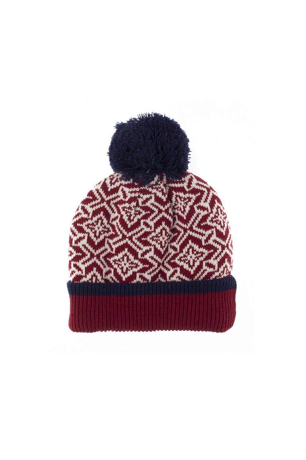 6be29f2d9ea Dents Womens Nordic Pattern Knitted Hat with Pom Pom - Womenswear ...