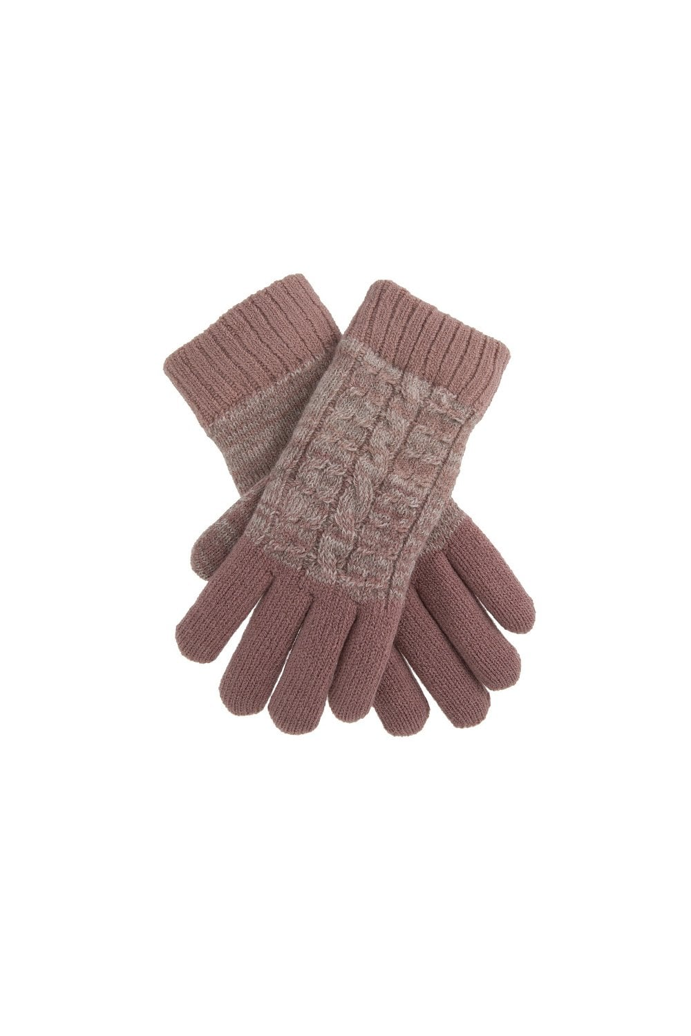 933d8da2a52d09 Dents Womens Ombre Cable Knit Gloves - Pink - Womenswear from ...