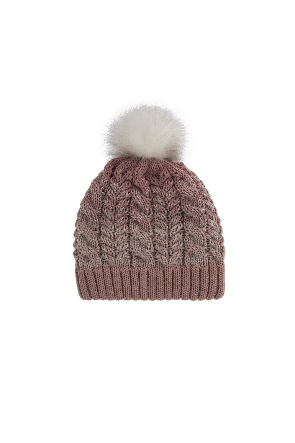 4612b3a4baa361 Dents Womens Ombre Cable Knit Hat with Pom Pom - Pink - Womenswear ...