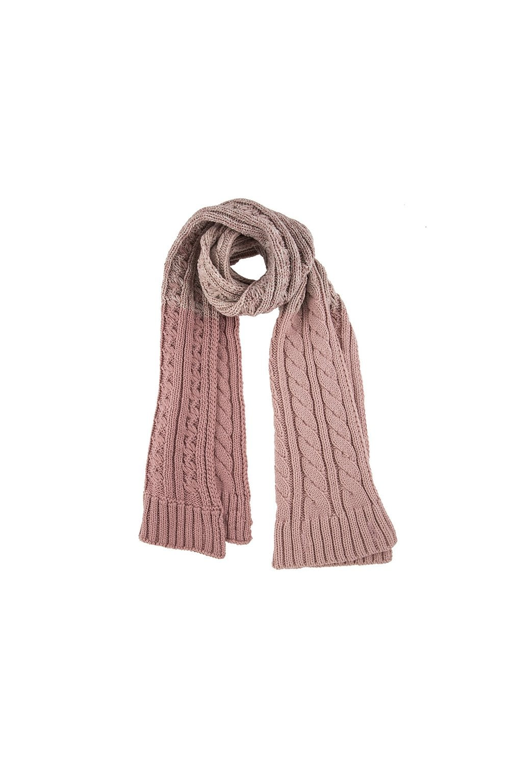 42d54ae32b1f54 Dents Womens Ombre Cable Knit Scarf - Pink - Womenswear from Potters ...