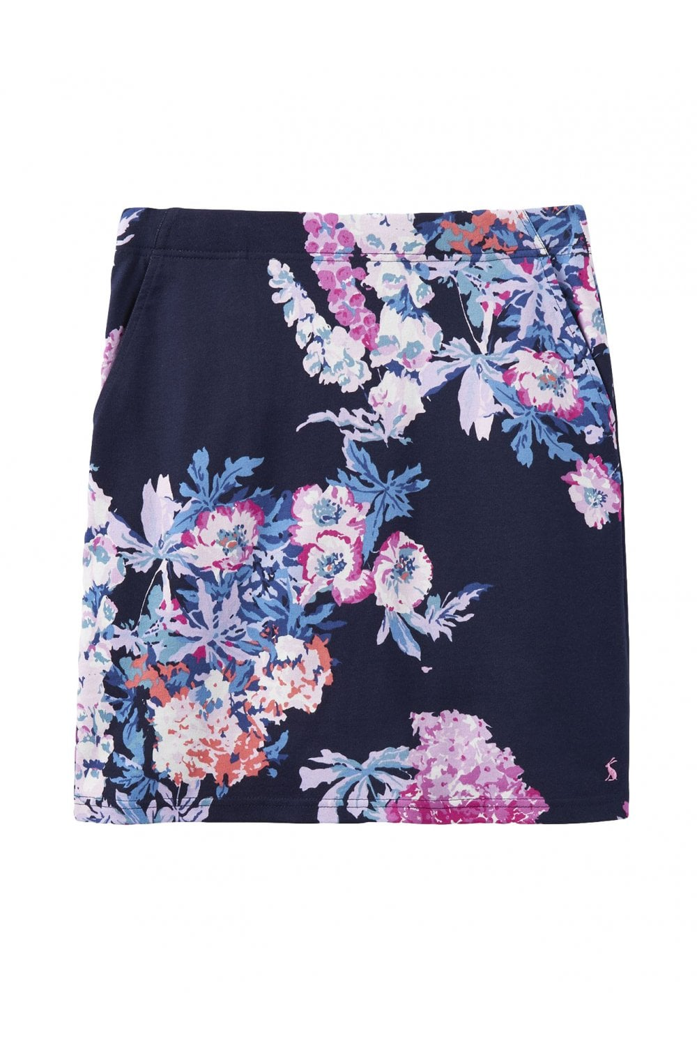 8978db0ced Joules Womens Portia Print Jersey Skirt - Navy Floral - Womenswear ...