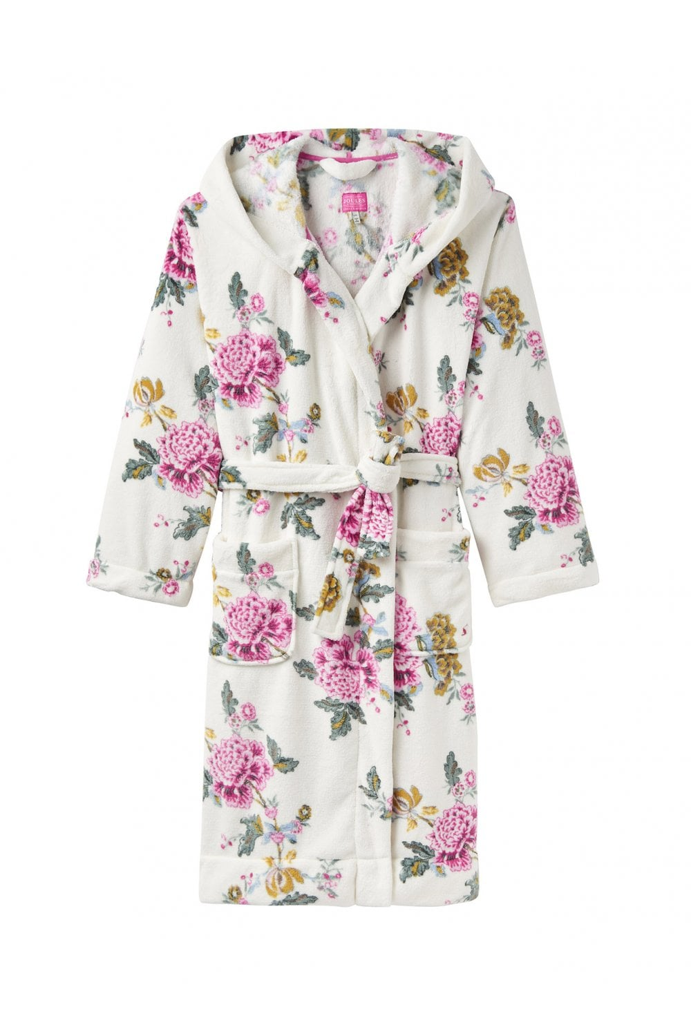 5a7af45a55 Joules Womens Rita Printed Fleece Dressing Gown - Cream Chinoise ...