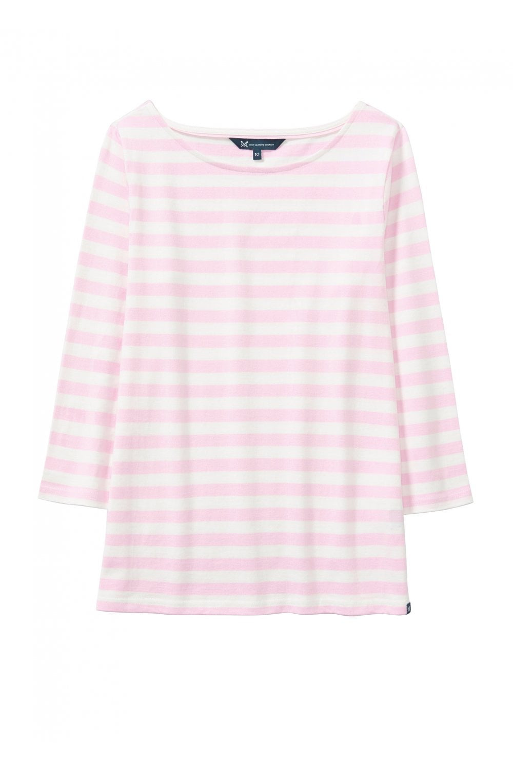 01024754844f Womens Ultimate Breton Striped Tee - Pure Pink/White. Crew Clothing ...